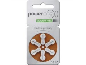 power one size 312 mercury free hearing aid batteries 2pack 60 batteries