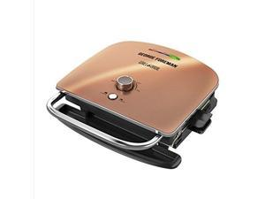 george foreman grill & broil, 6in1 electric indoor grill, broiler, panini press, and top melter, copper, grbv5130cux