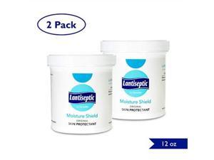 moisture barrier skin cream, 2 pack  lanolin ointment treats and protects dry, irritated, chaffed, and cracking skin 50% lanolin enriched  12 oz. jar  by lantiseptic