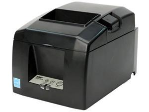 star micronics tsp654iiu usb thermal receipt printer with autocutter and external power supply  gray
