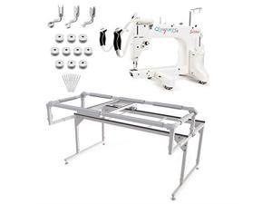 grace q'nique 15r midarm quilting machine with qzone hoop frame plus bonus bundle