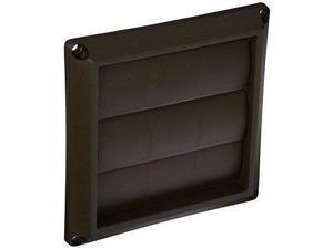 lambro industries 2677b plastic louvered vent hood, 4 in. , brown pack of 2