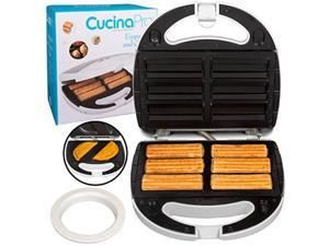 empanada and churro maker machine cooker w 4 removable plates easier than empanada press or churro press includes dough cutting circle for easy dough measurement