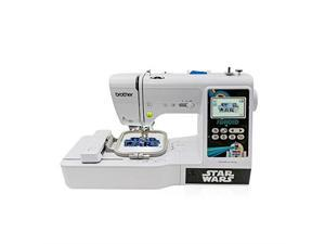 brother lb5000s star wars computerized sewing and embroidery machine, white