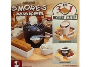 smores maker  indoor/outdoor 3in1 dessert station s'mores, fondue, ice cream