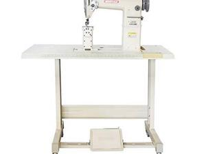 yamata fy810 sewing lockstitch,reverse,post bed,roller feed +table+motor+assembly required.diy.