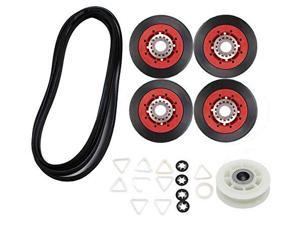 4392067rc 27inch dryer repair kit replacement 4392067vp for whirlpool maytag kenmore,ps373088 ap3109602 repair kits include 279640 idler pulley w10314173 drum roller 661570 belt