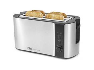 MAXI-MATIC ECT-3100 Elite Platinum 4 Slice Stainless Steel Long Toaster