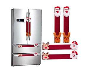 "christmas santa refrigerator handle covers 12"" microwave oven dishwasher fridge door handle covers kitchen appliance handle covers christmas decorations set of 4"