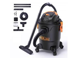 tacklife wet/dry vacuum, 5 gallon, 5.5 peak hp with 17 ft clean range, 4layer filtration system and safety buoy technology for dry/wet/blowing  pvc01a