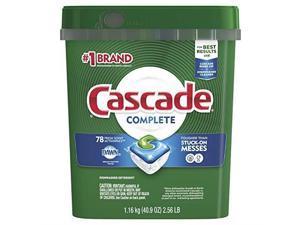 cascade complete dishwasher pods, actionpacs dishwasher detergent, fresh scent, 78 count