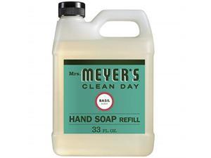 mrs. meyer's liquid hand soap refill, basil, 33 fl oz pack of 1