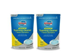 glisten dp06npb garbage disposer foaming cleaner, lemon scent, 2pack 8 uses, blue, 9 ounce