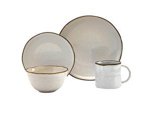 tabletops gallery fashion dinnerware collection stoneware dishes service for 4 dinner salad appetizer dessert plate bowls, 16 piece geneva dinnerware set