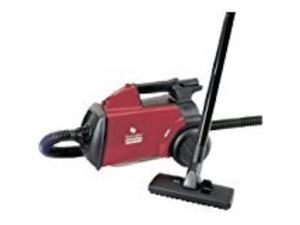 sanitaire sc3683b commercial canister vacuum cleaner  1200w motor  2.54quart  red