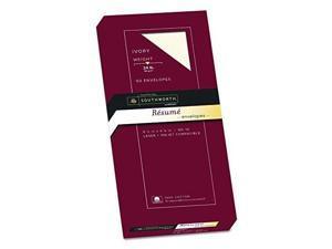 southworth exceptional resume envelopes, 100% cotton, size 10, ivory, 50 count r14i10l