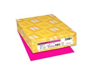 wausau astrobrights cardstock, 65 lb, 8.5 x 11 inches, fireball fuchsia, 250 sheets 22881