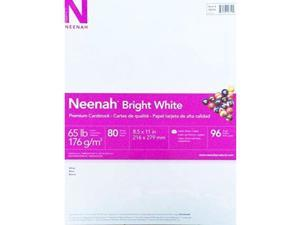 neenah bright white cardstock, 65 lb, 81/2 x 11 in, pack of 80