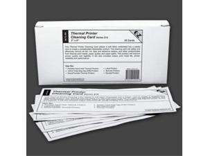 "thermal printer cleaning card 2""x6""  50.8mm x 152.4mm 25 cards"