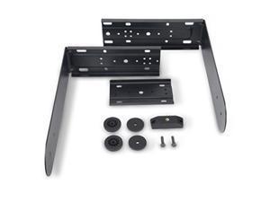 qsc k122na powder coated steel yoke mount black