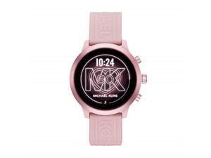 michael kors access women's mkgo touchscreen aluminum and silicone smartwatch, blush/pinkmkt5070