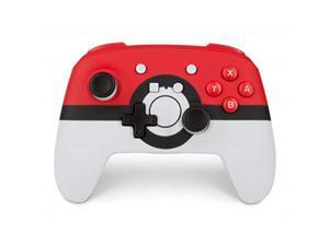 powera enhanced wireless controller for nintendo switch: pokemon poke ball red  nintendo switch
