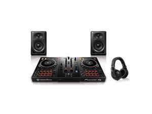 pioneer pro dj bundle with ddj400 + dm40 set + hdjx5 headphones