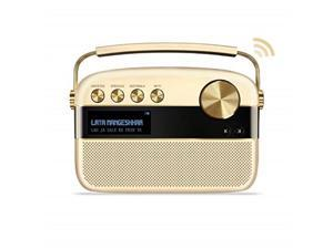 saregama carvaan 2.0 portable digital music player  sound by harman/kardon with 20,000 songs with wifi, champagne gold color