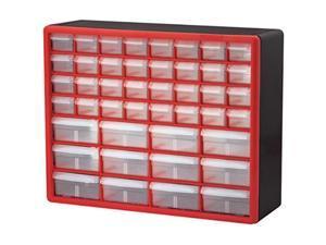 akromils 10144redblk 44drawer hardware & craft plastic cabinet, red & black,