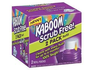 kaboom with oxiclean scrub free! refill, 2 ct
