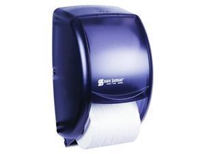 san jamar r3500tbk black pearl duett standard bath tissue dispenser