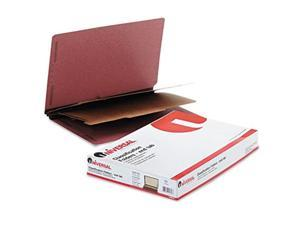 universal office products 10316 pressboard end tab classification folders, legal, sixsection, red, 10/box