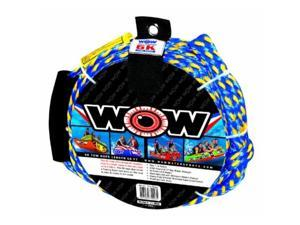 wow world of watersports, 113020, tow rope up to 6 riders, 60 feet, 6100 pounds break strength, floating foam buoys  heavy duty rope