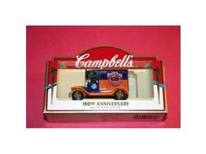 campbell's soup 100th anniversary diecast car model souvenir  blue/orange beefsteak delivery truck by lledo