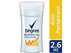 degree for women motionsense stress control antiperspirant, 2.6 oz
