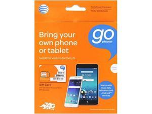 at&t 3in1, triple cut universal sim card starter kit for gophone devices no annual contract packaging may vary