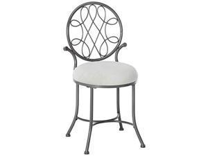 hillsdale o'malley vanity stool, gray