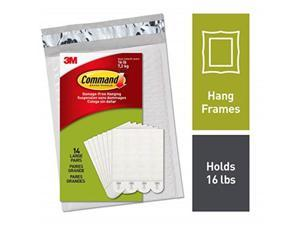 command picture hanging strips, decorate damagefree, 14 pairs 28 strips, indoor use, white ph20614na