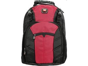 "swissgear sherpa 16"" laptop backpack travel school bag rio red"