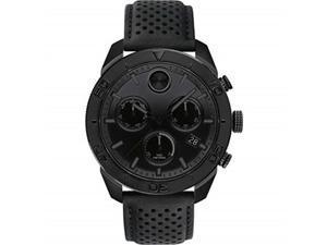 movado bold sport chronograph quartz black dial men's watch 3600517