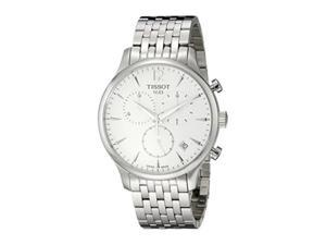 tissot men's t0636171103700 tradition analog display swiss quartz silver watch