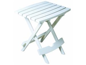 adams manufacturing, white 8500483700 plastic quikfold side table