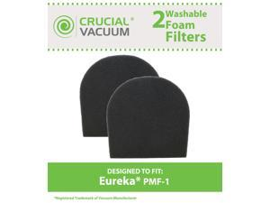 2 Eureka PMF-1 Foam Filter; Fits 8500 and 880 Series; Part # 77583-33N, 77583, PMF-1 & PMF1; Designed & Engineered by Crucial Vacuum