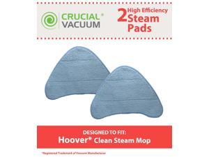 2 Hoover Steam Mop Pads Fit Hoover WH20200 Steam Mop, WH20300 Part # WH01000 Designed & Engineered By Crucial Vacuum
