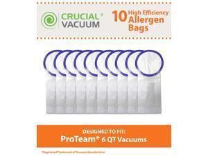 10 Proteam Windsor Raven 6 QT Commercial Pack Vacuum Bags Designed To Fit Proteam Windsor Raven 6 Quart Commercial Backpack Vacuums; Compare To Part # 100431