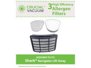 Shark Navigator Lift-Away Filter Kit Designed To Fit Shark NV351, NV352; Includes 1 Hepa Filter Compare To Shark Part # XHF350 & 1 Foam Filter and 1 Felt Pre-Filter Compare To Shark Part # XFF350