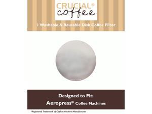 1 Crucial Coffee Washable & Reusable Coffee Filters Fit Aerobie AeroPress; Fits ALL Aerobie AeroPress Coffee & Espresso Machines; Manufactured by Crucial Coffee
