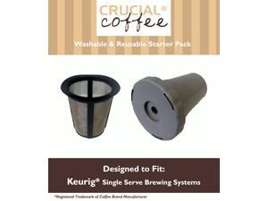 Gold Tone 1 Cup Reusable Coffee Filter Starter Pack; Fits Keurig Single Serve Brewing Systems