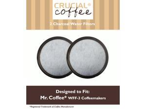 2 Mr. Coffee Charcoal Water Filters; Fits WFF-3 Coffeemakers; Compare to Part # 113035-001-000; Designed & Engineered by Crucial Coffee