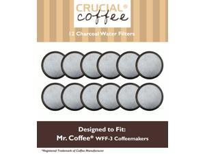 12 Mr. Coffee Charcoal Water Filters; Fits WFF-3 Coffeemakers; Compare to Part # 113035-001-000; Designed & Engineered by Crucial Coffee